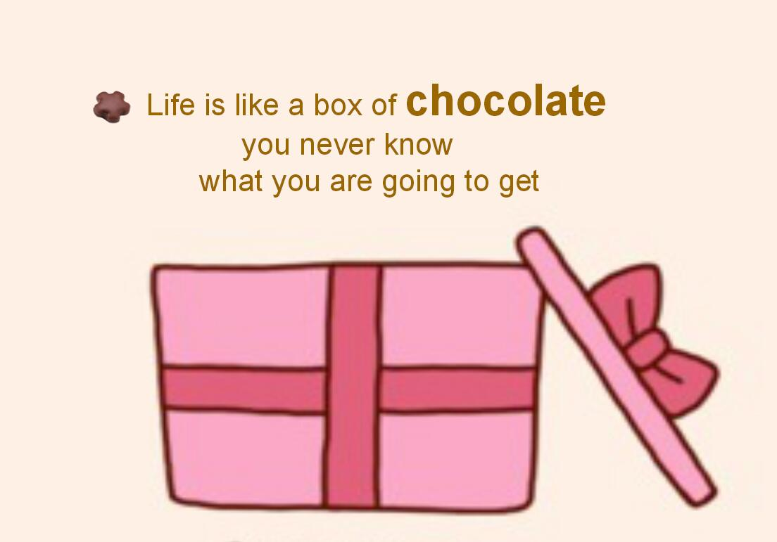 life is a box of chocolate